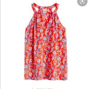 Pixley StitchFix Nelda Halter paisley print blouse